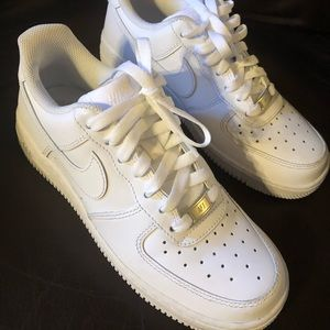 Nike Air Force 1s , low profile.